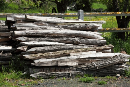 wooden stakes closing Stock Photo - 17202535