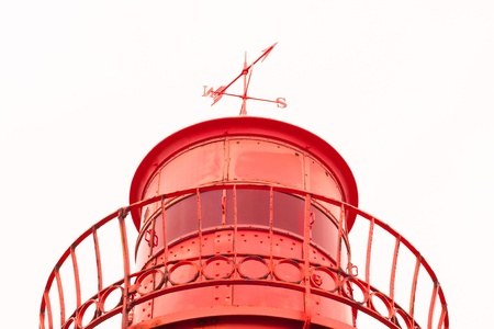old lighthouse red metal photo