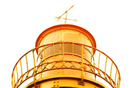 old lighthouse yellow metal photo