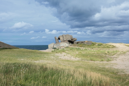 German bunker in Normandy from the Second World War Stock Photo - 17976156