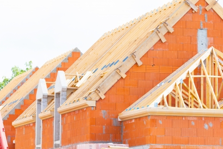 brick house under construction
