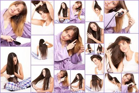 women and their hair photo