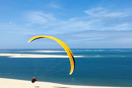 Duin van Pilat paragliding Stockfoto
