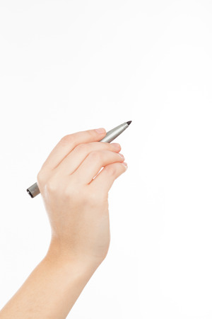 womans: womans hand with a pen or marker