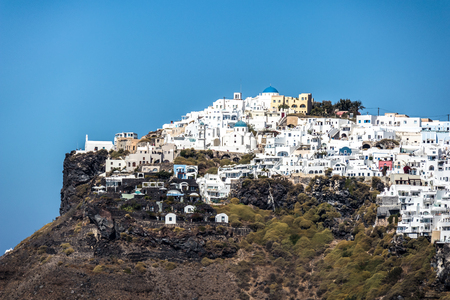 A view of Oia on the Greek island of Santorini.script