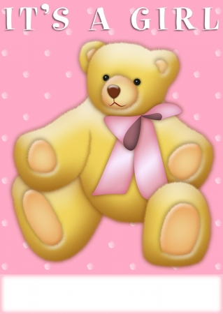 It's a Boy announcement with teddy bear Stock Photo - 8020999
