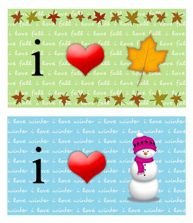 fuschia: I love fall and i love winter signs. Stock Photo