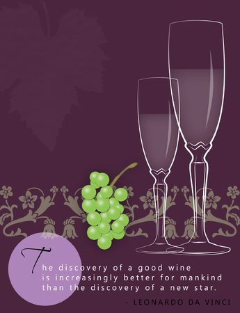 Template for winery ad with space for text. Standard-Bild