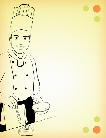 cuisines: Template for culinary ad with space for text.
