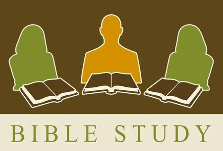 Resumen de personas estudiando la Biblia. Foto de archivo - 8993495