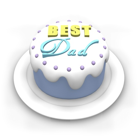 best dad: 3D pastel colored cake for Fathers Day.