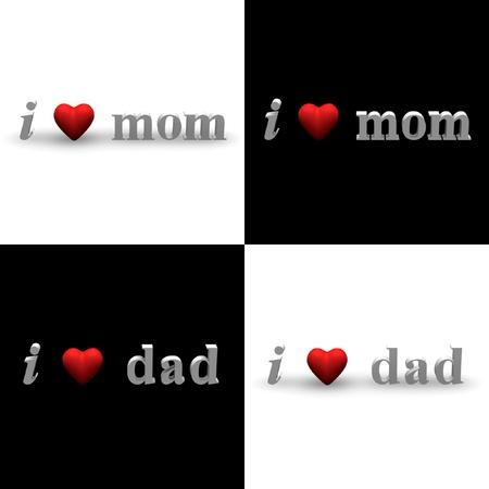 3D texts of