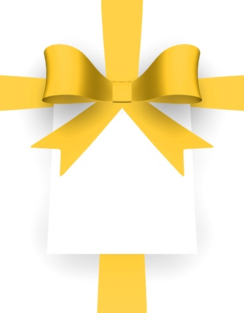 Yellow ribbon and card with space for text.