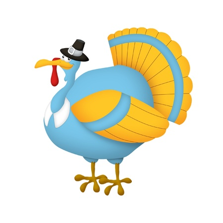 Thanksgiving turkey wearing pilgrim s hat Standard-Bild