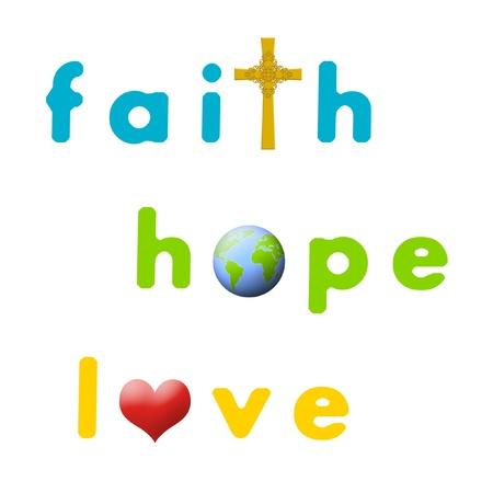 geloof hoop liefde: Meld je aan voor geloof, hoop en liefde.