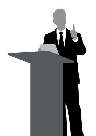 hablar en publico: Resumen de altavoz con podio
