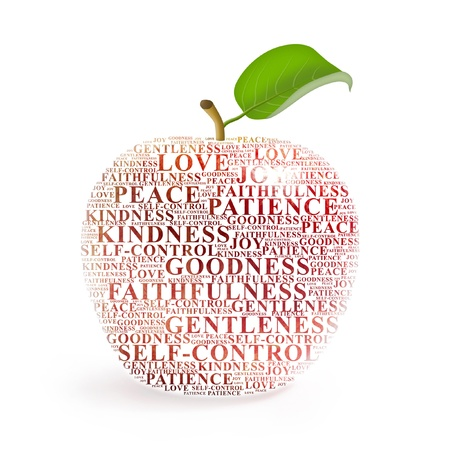 jesus word: Apple representing the fruit of the Holy Spirit