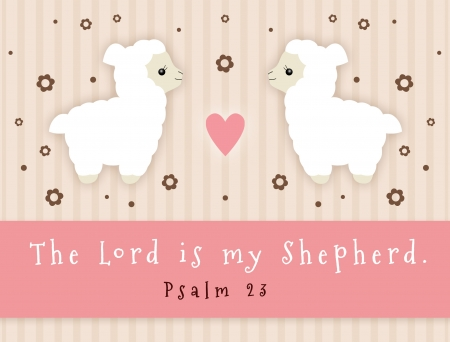 The Lord Is My Shepherd sign with lamb  photo