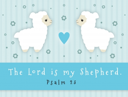 good shepherd: The Lord Is My Shepherd sign with lamb