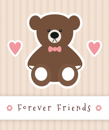 Forever Friends sign with teddy bear. Stock Photo - 20323399