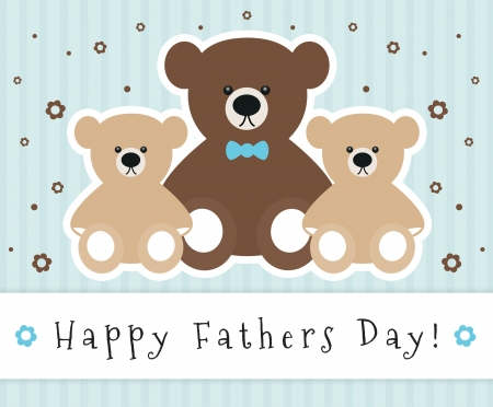 Fathers Day sign with cute bears.