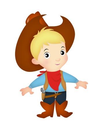Boy wearing western cowboy costume  Stock Photo