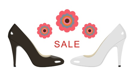 Sale sign for women s shoes