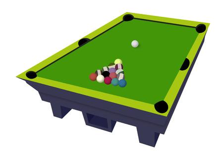 Billiard table with billiard balls  Standard-Bild