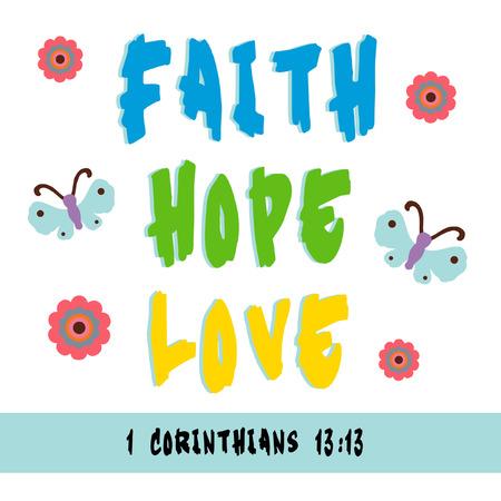 fede: Registrati per la fede, la speranza e l'amore.