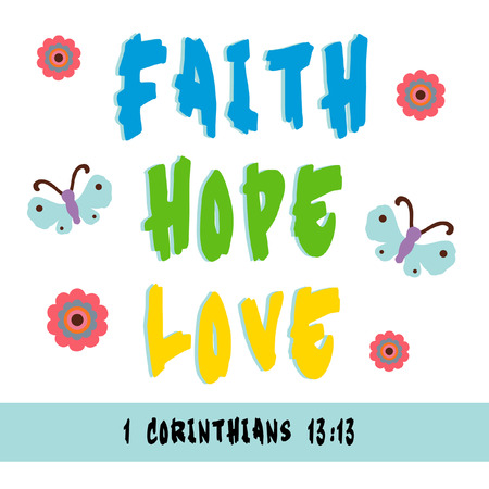 Sign for faith, hope, and love. photo