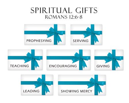 espiritu santo: Regalos que representan los dones del Espíritu Santo.