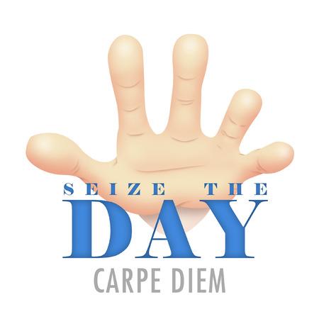 seize: Hand symbolizing Seize The Day.