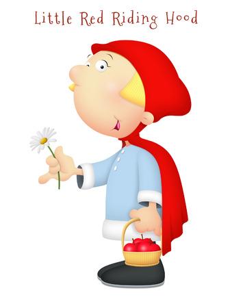 caperucita roja: Poco margarita celebraci�n Caperucita Roja.