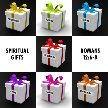 dar un regalo: Regalos que representan los dones del Espíritu Santo.