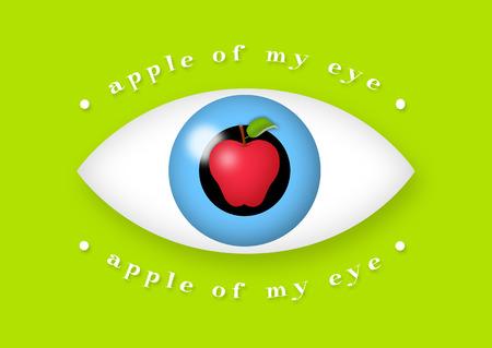 Apple in the middle of eye. Standard-Bild