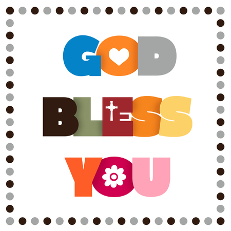 Colorful GOD BLESS YOU sign.