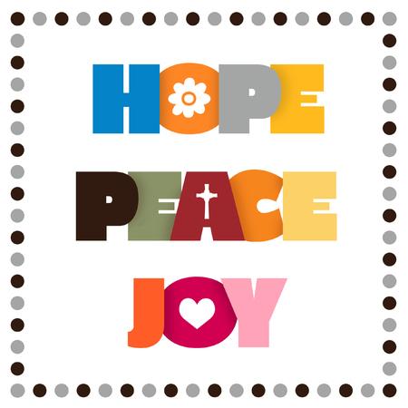 Zeichen für Hoffnung, Frieden und Freude. Standard-Bild - 78523710