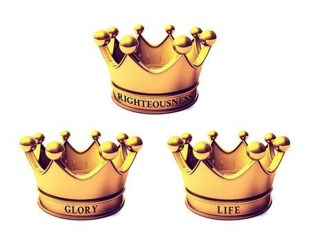 Krone der Gerechtigkeit, Krone der Herrlichkeit und Krone des Lebens