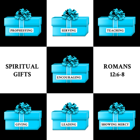 Gifts representing the gifts of the Holy Spirit.
