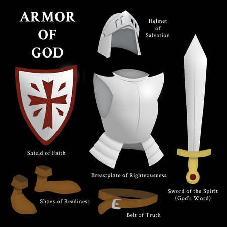 Armor of God, Ephesians 6:13-17 Stock fotó