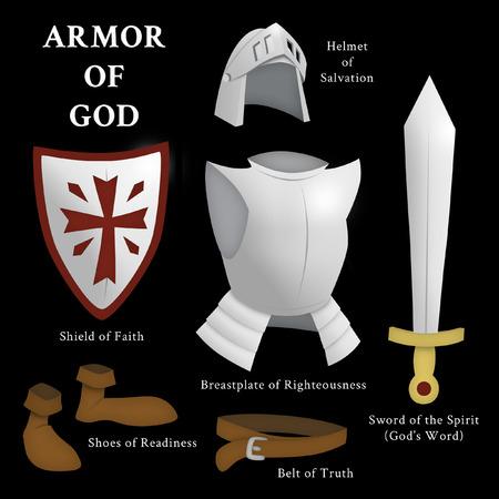 Rüstung Gottes, Epheser 6: 13-17 Standard-Bild - 83545346