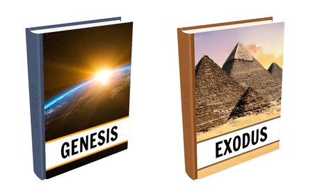 Livres bibliques - Genèse et Exode Banque d'images