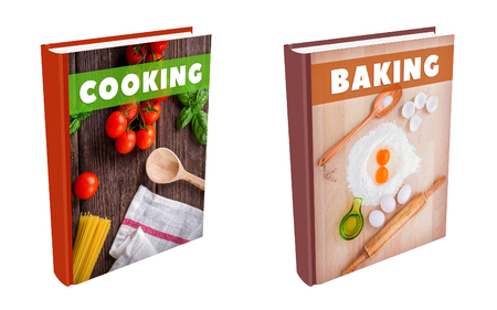 Books on cooking and baking. Фото со стока