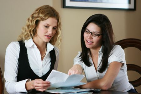 Business Team Working - (Business Woman Working-3000x2000) Stock Photo - 4626756