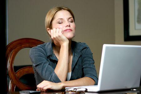 Sleeping Businesswoman Stock Photo - 4716103