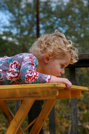 Cute and curious little girl Stock Photo - 4721779