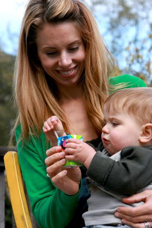 A cute little boy and his mother Stock Photo - 4721836