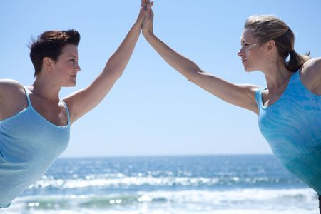 Yoga Woman Holding Hands Stock Photo - 4963947