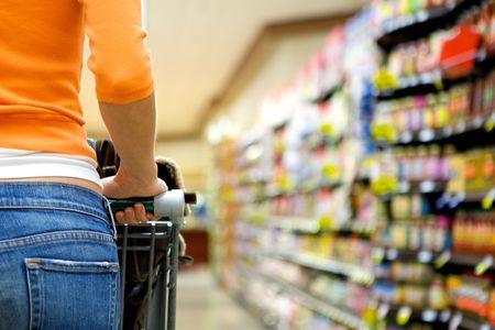 Supermarket Shopper Stock Photo - 4975465