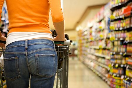 Supermarket Shopper Stock Photo - 4975316